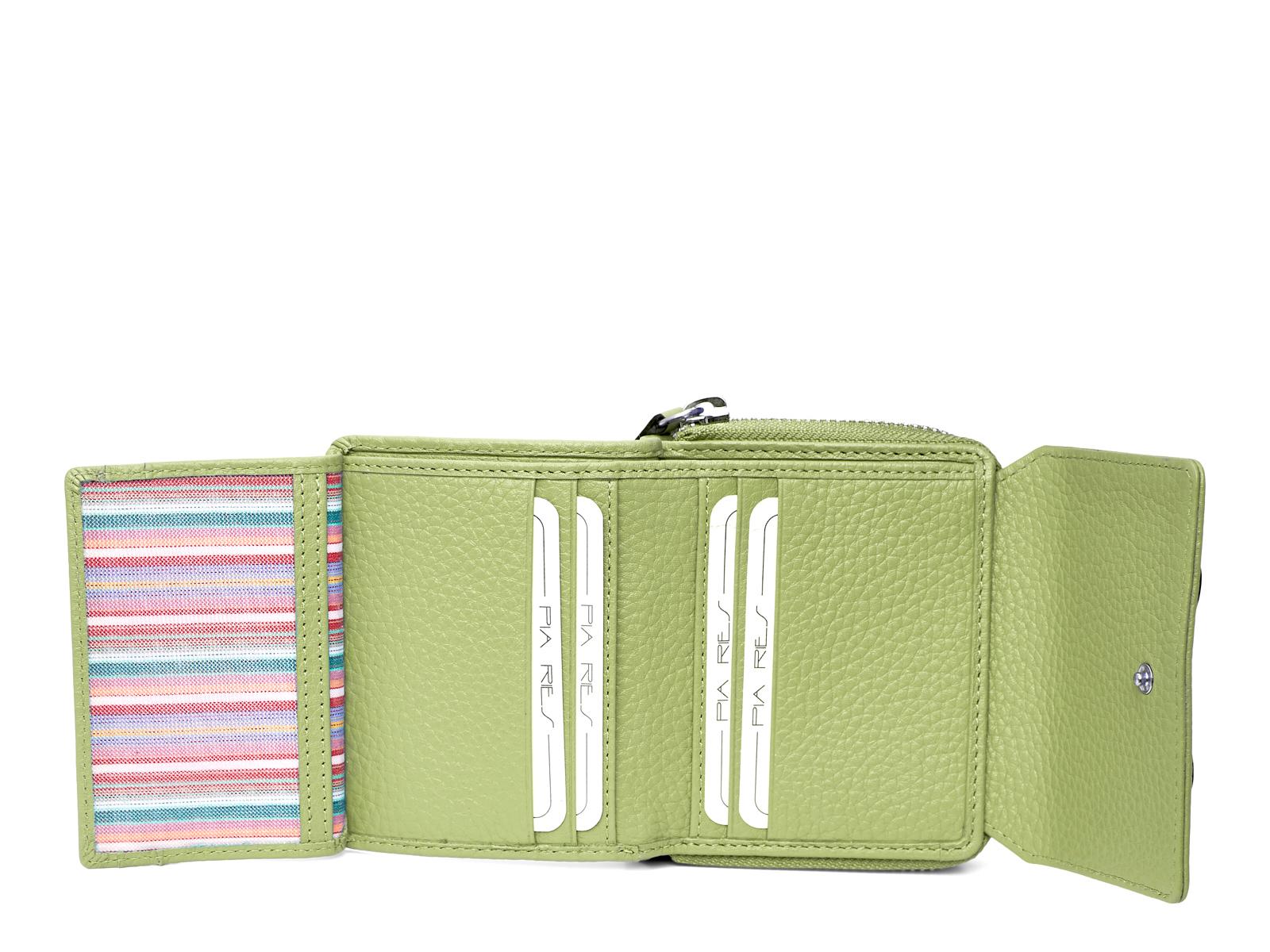 Compacte maar ruime portemonnee - Pastel Groen
