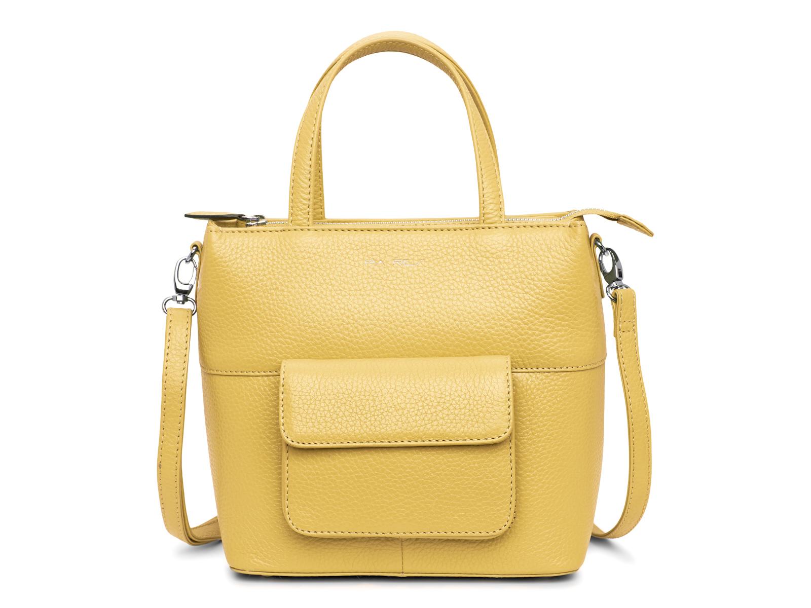 Handtas met lange schouderriem - Pastel Geel