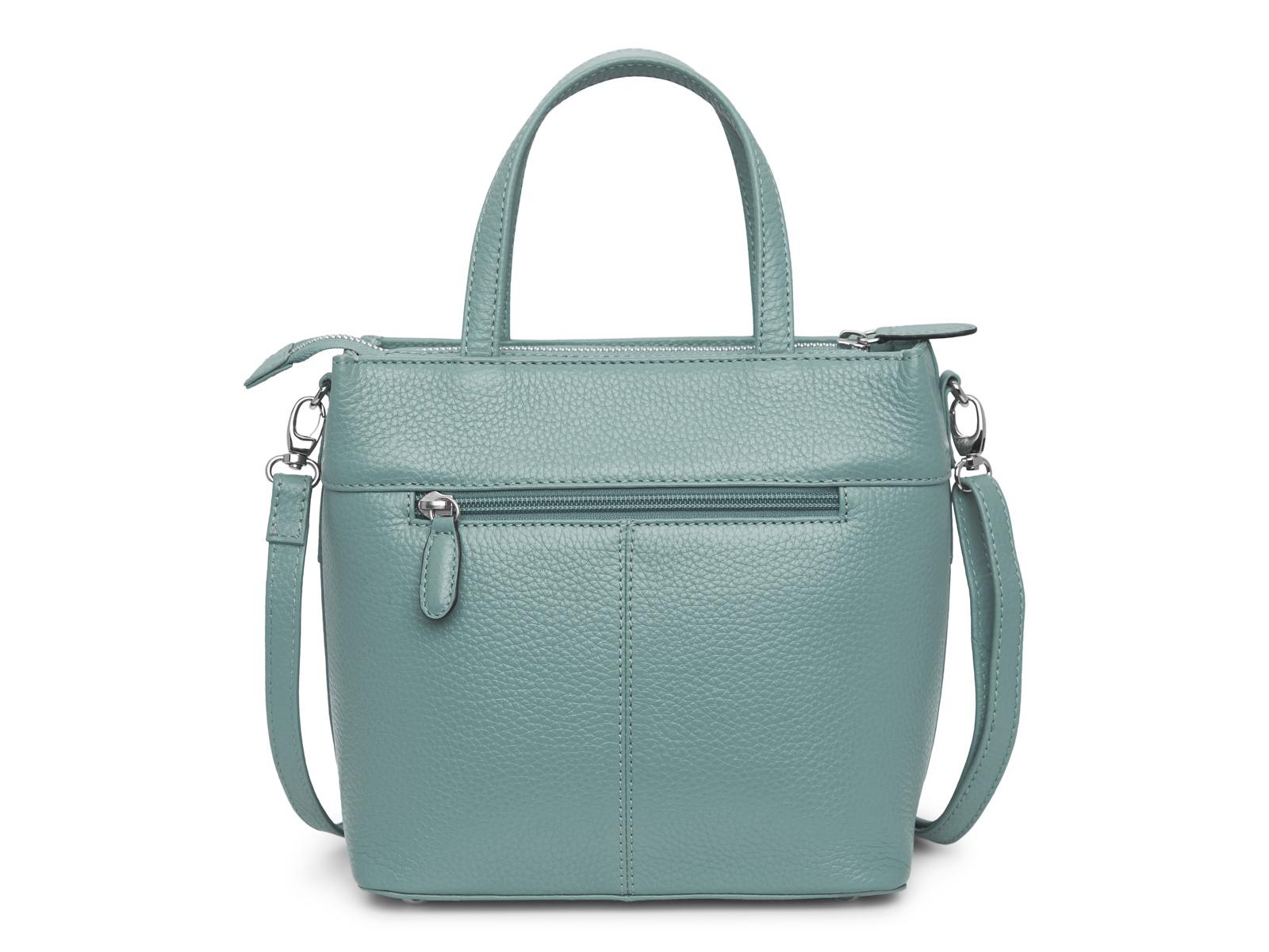 Handtas met lange schouderriem - Pastel Petrol