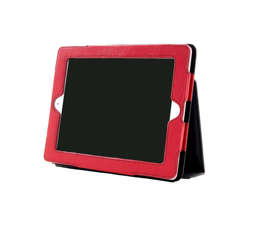 Pia Ries Ipad 2/3/4 cover zacht leer - Rood