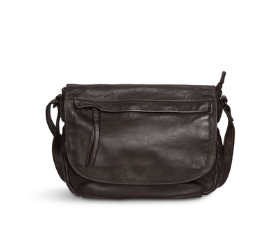 Pia Ries Pia Ries - Crossbody met overslag  Washed - Bruin