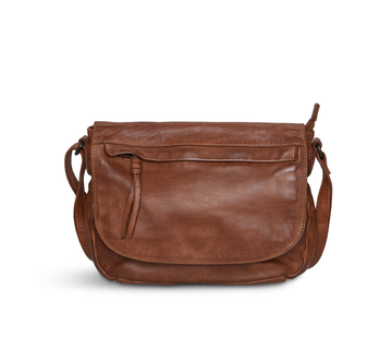 Pia Ries Pia Ries - Crossbody met overslag  Washed - Cognac