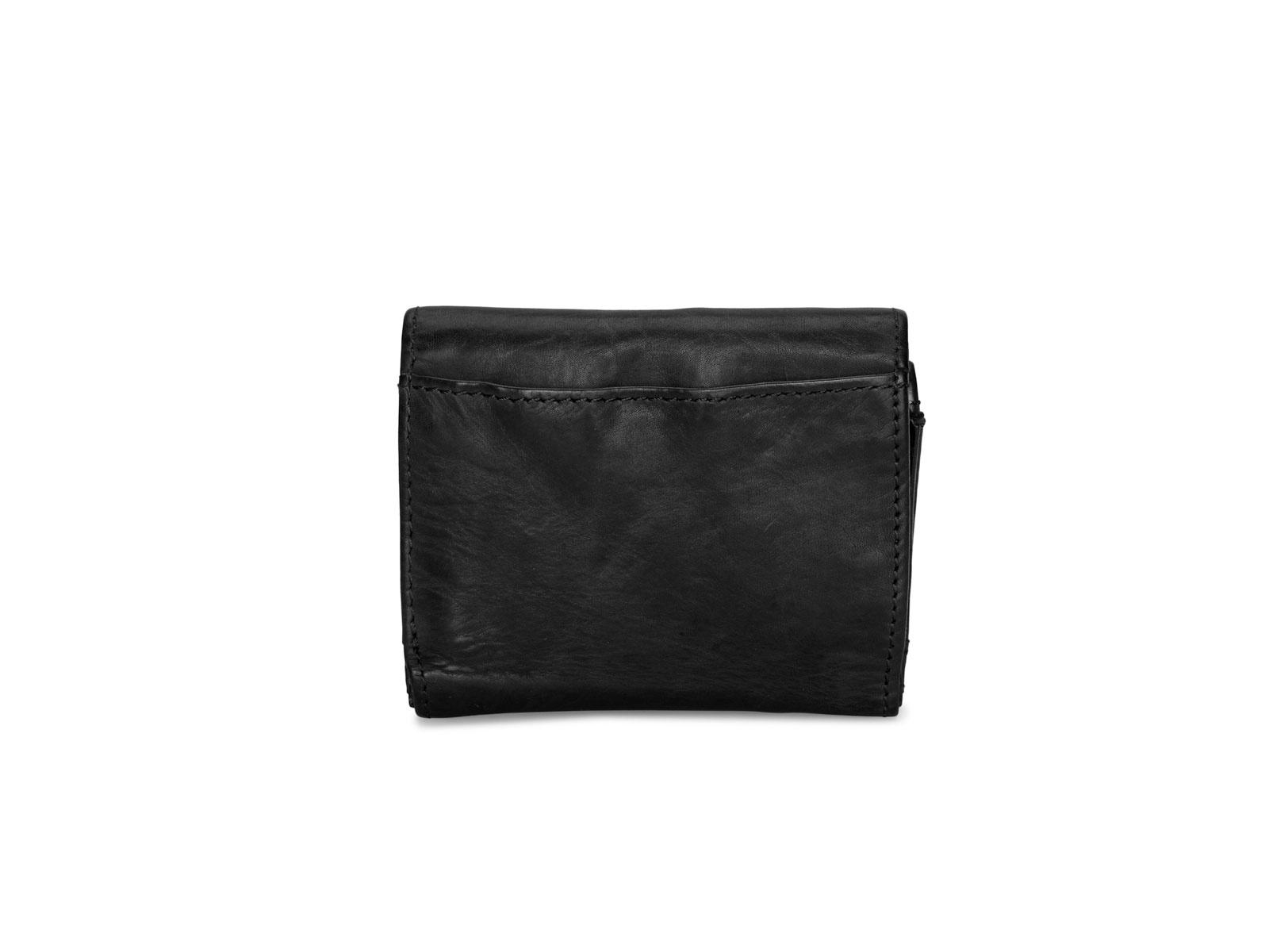 Pia Ries | Washed | Kleine  portemonnee voor munten en kaarten | Zwart