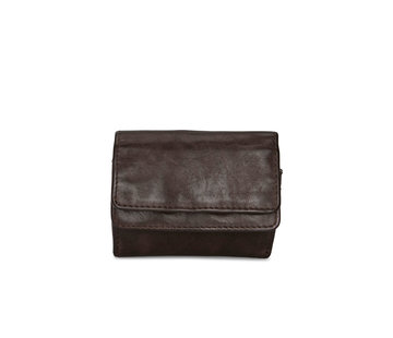 Pia Ries Pia Ries | Washed | Kleine  portemonnee voor munten en kaarten | Bruin