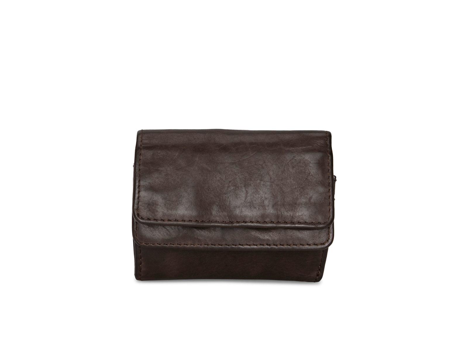 Pia Ries | Washed | Kleine  portemonnee voor munten en kaarten | Bruin