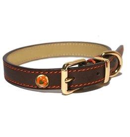 Rosewood Luxury leather halsband hond leer luxe bruin