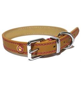 Rosewood Luxury leather halsband hond leer luxe zand