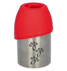 trixie Trixie drinkfles rvs met plastic drinkbakje