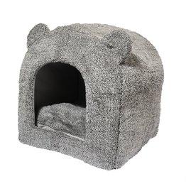 40 winks Rosewood kattenmand iglo teddy grijs