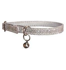 Bobby Bobby kattenhalsband glitter grijs