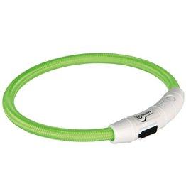 trixie Trixie halsband flash light lichtgevend usb oplaadbaar groen