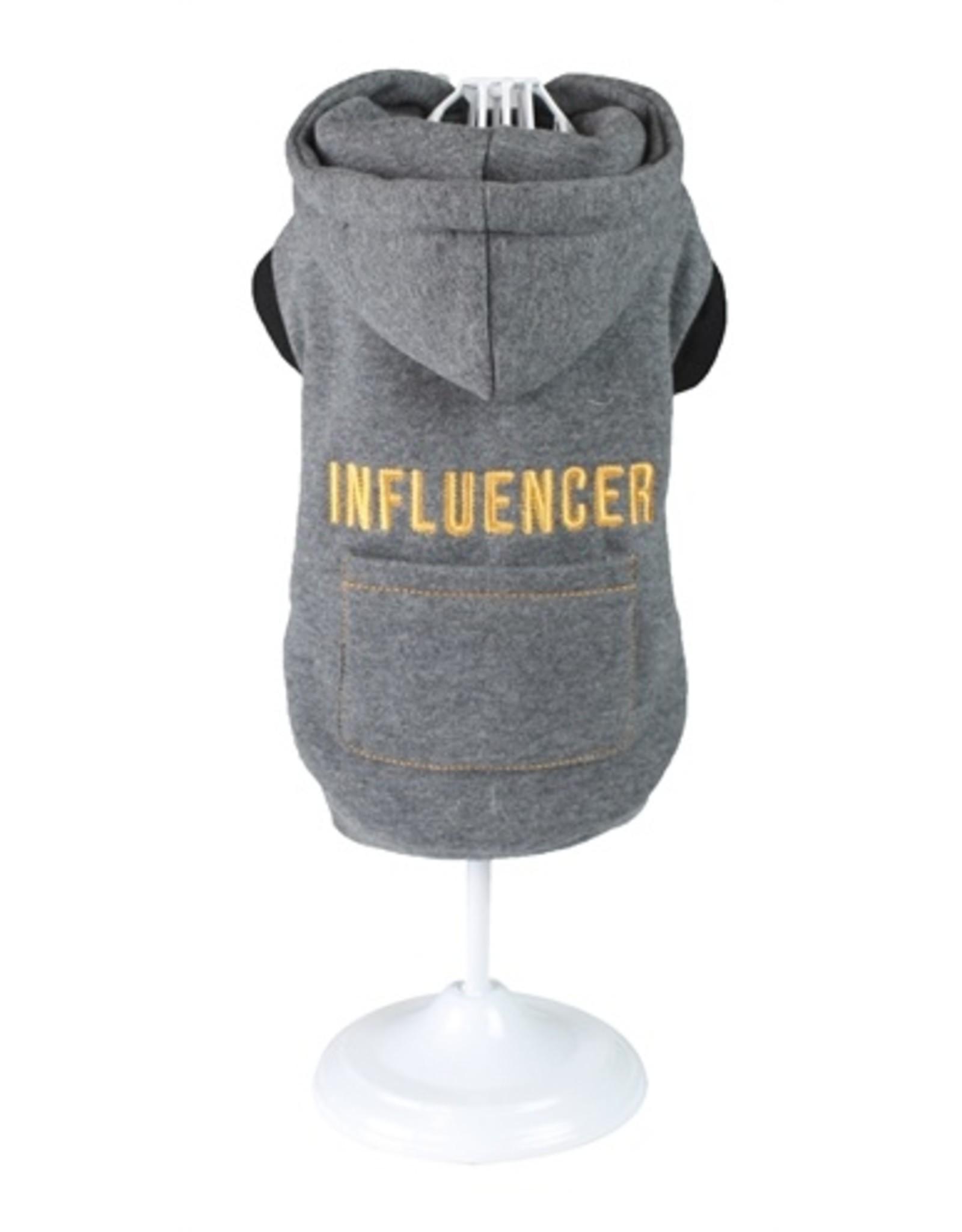 Croci Croci hondentrui sweater influencer grijs
