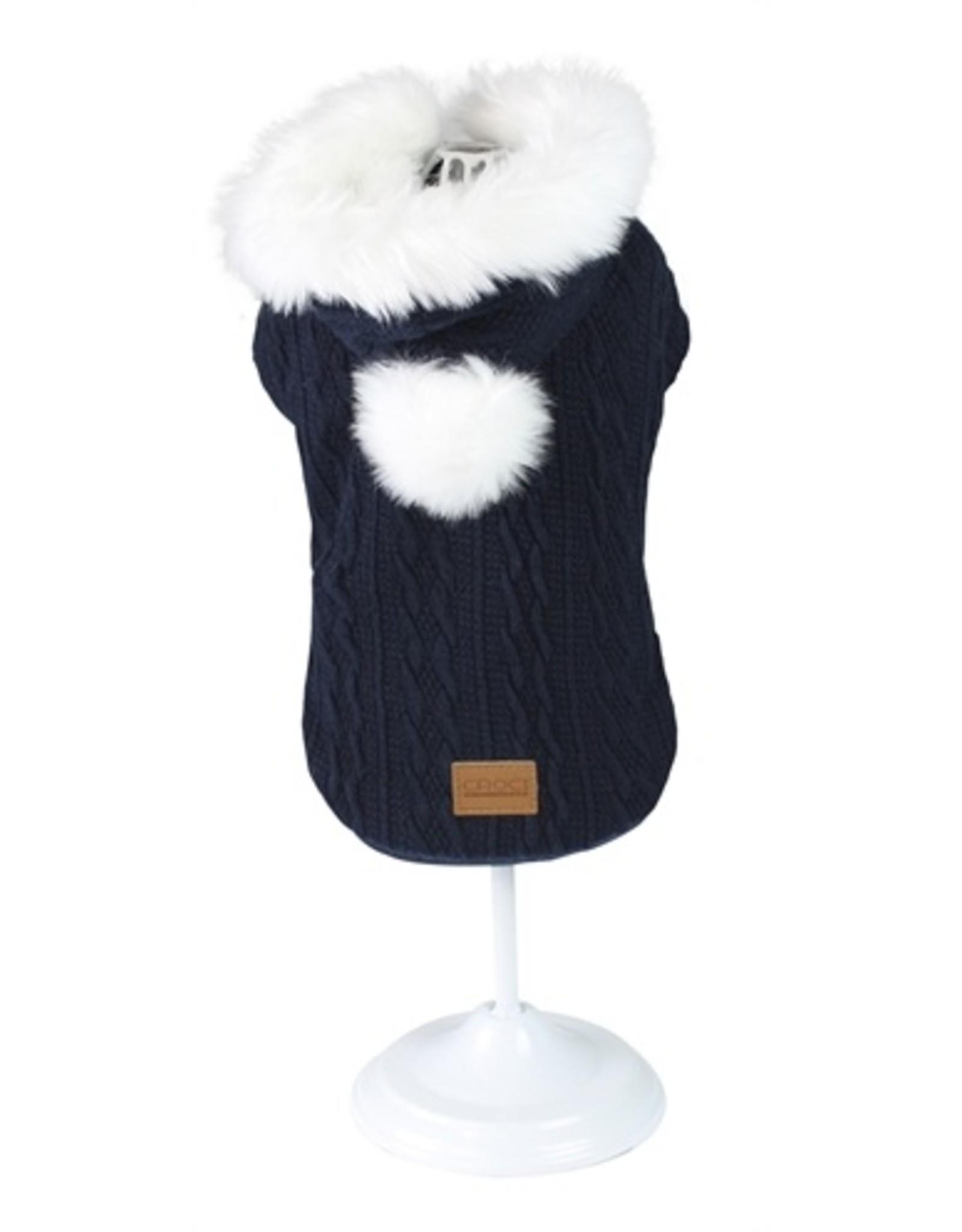 Croci Croci hondentrui sweater cushy blauw / wit