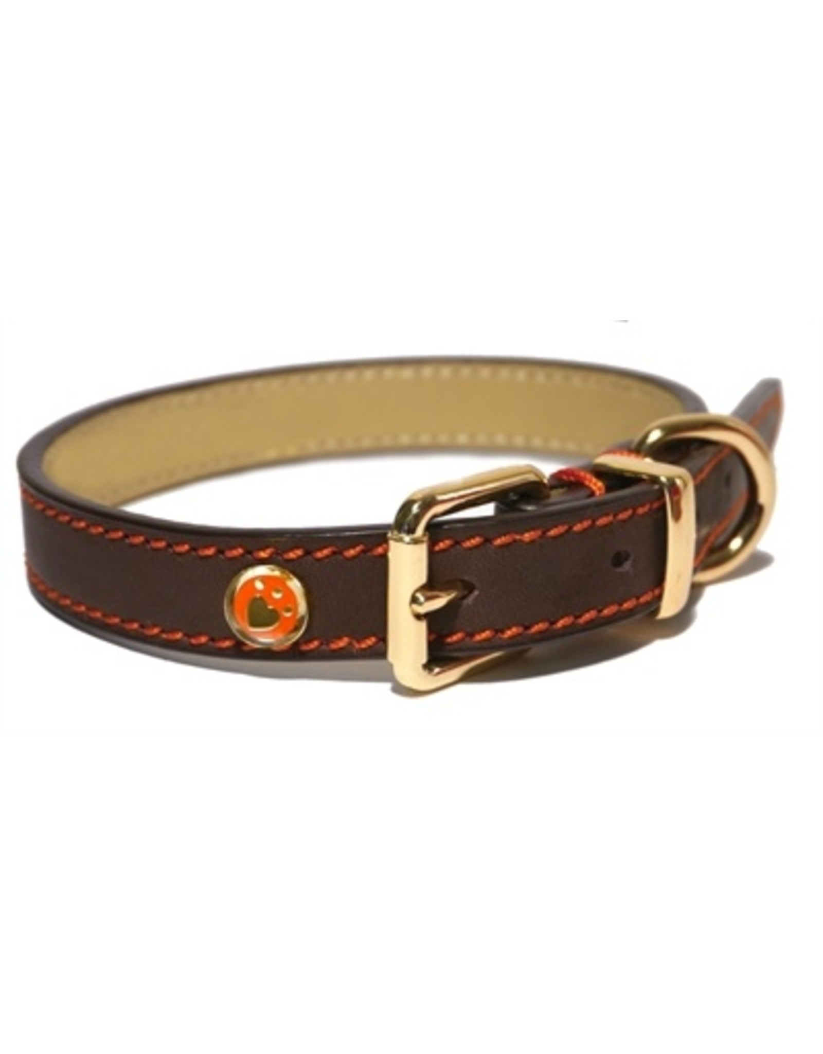 Rosewood Luxury leather halsband hond leer luxe bruin