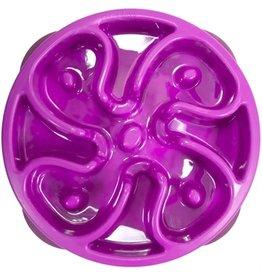Merkloos Voerbak slo-bowl mini bloem paars