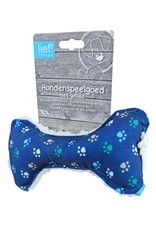 Lief! Lief! hondenspeelgoed canvas bot met piep boys blauw