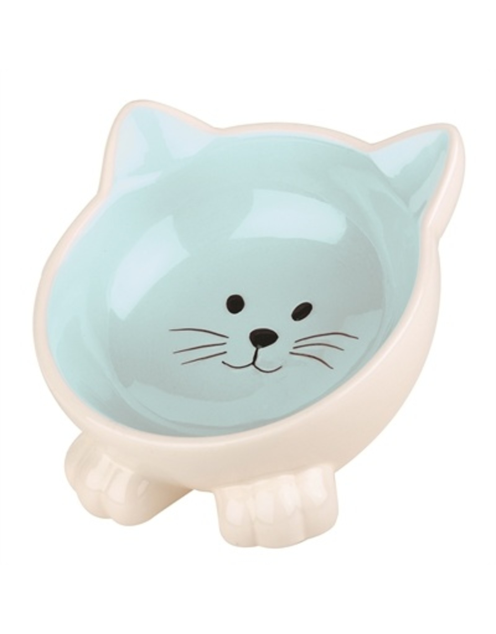 Happy pet Happy pet voerbak kat orb blauw / creme