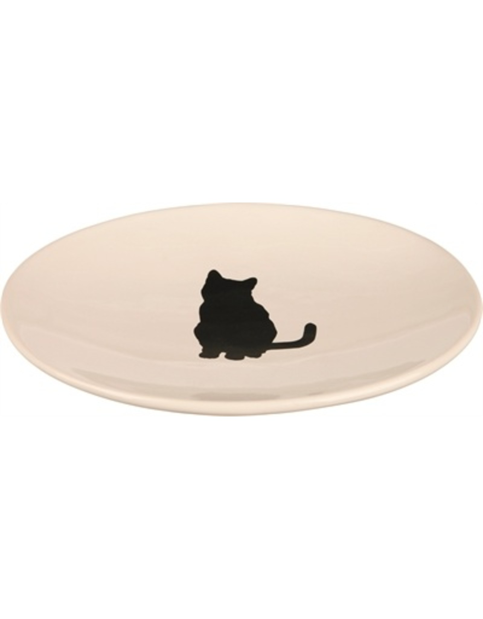 trixie Trixie voer / drink schotel wit met silhouette kat