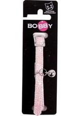 Bobby Bobby kattenhalsband glitter roze