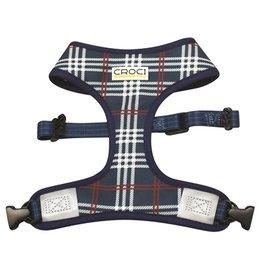 Croci Croci hondentuig cambridge tweezijdig ruit / visgraat blauw / rood