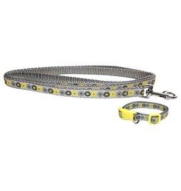Little rascals Little rascals puppy halsband met lijn geel