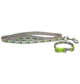 Little rascals Little rascals puppy halsband met lijn groen