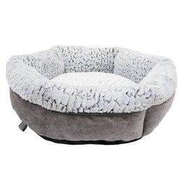 Rosewood Rosewood hondenmand luxury plush rond grijs