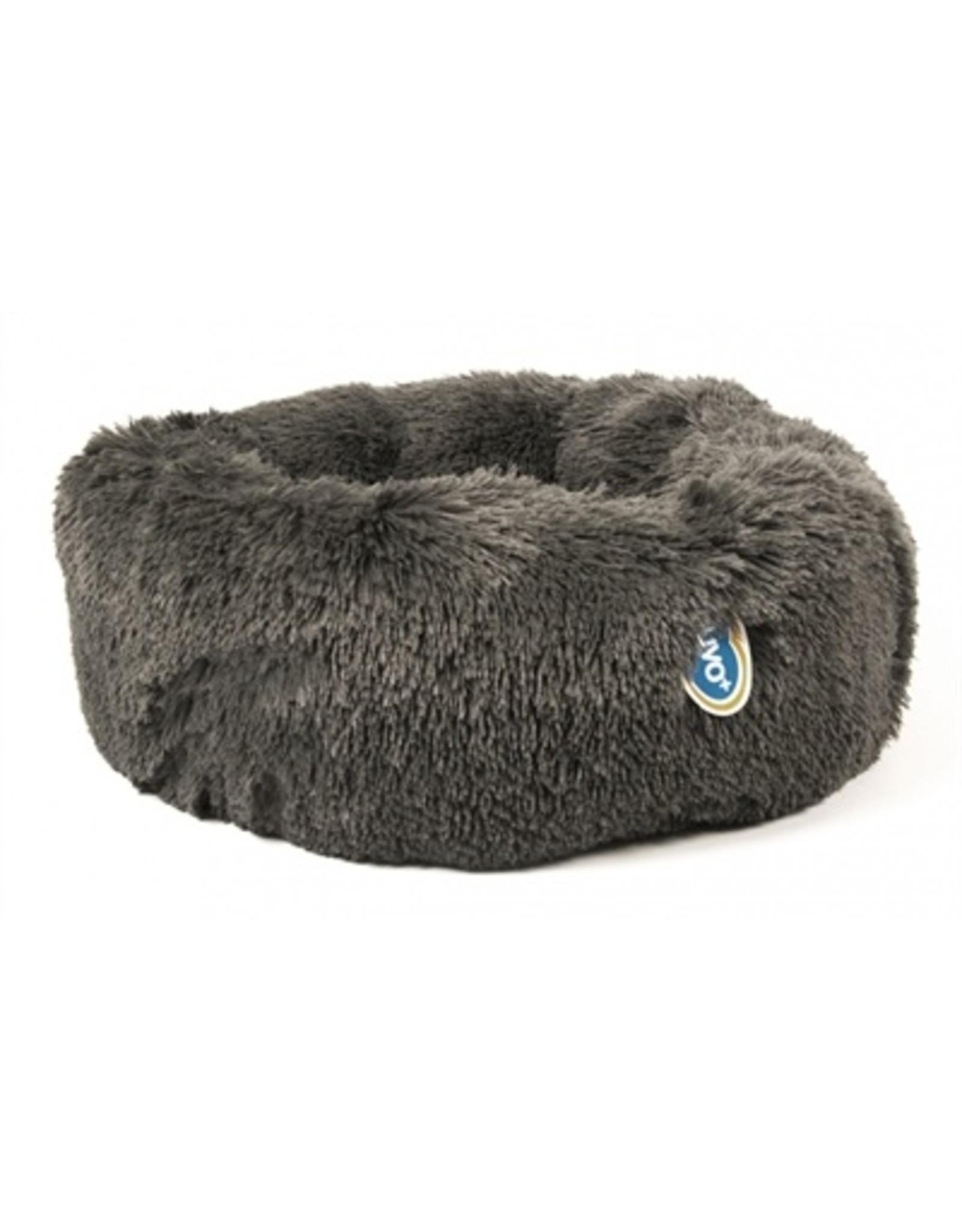Duvo+ Duvo+ hondenmand donut met lang haar grijs