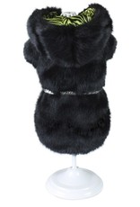 Croci Croci hondenjas nancy imitatiebont zwart