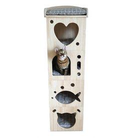 Rosewood Rosewood kattenmand toren cave massief hout
