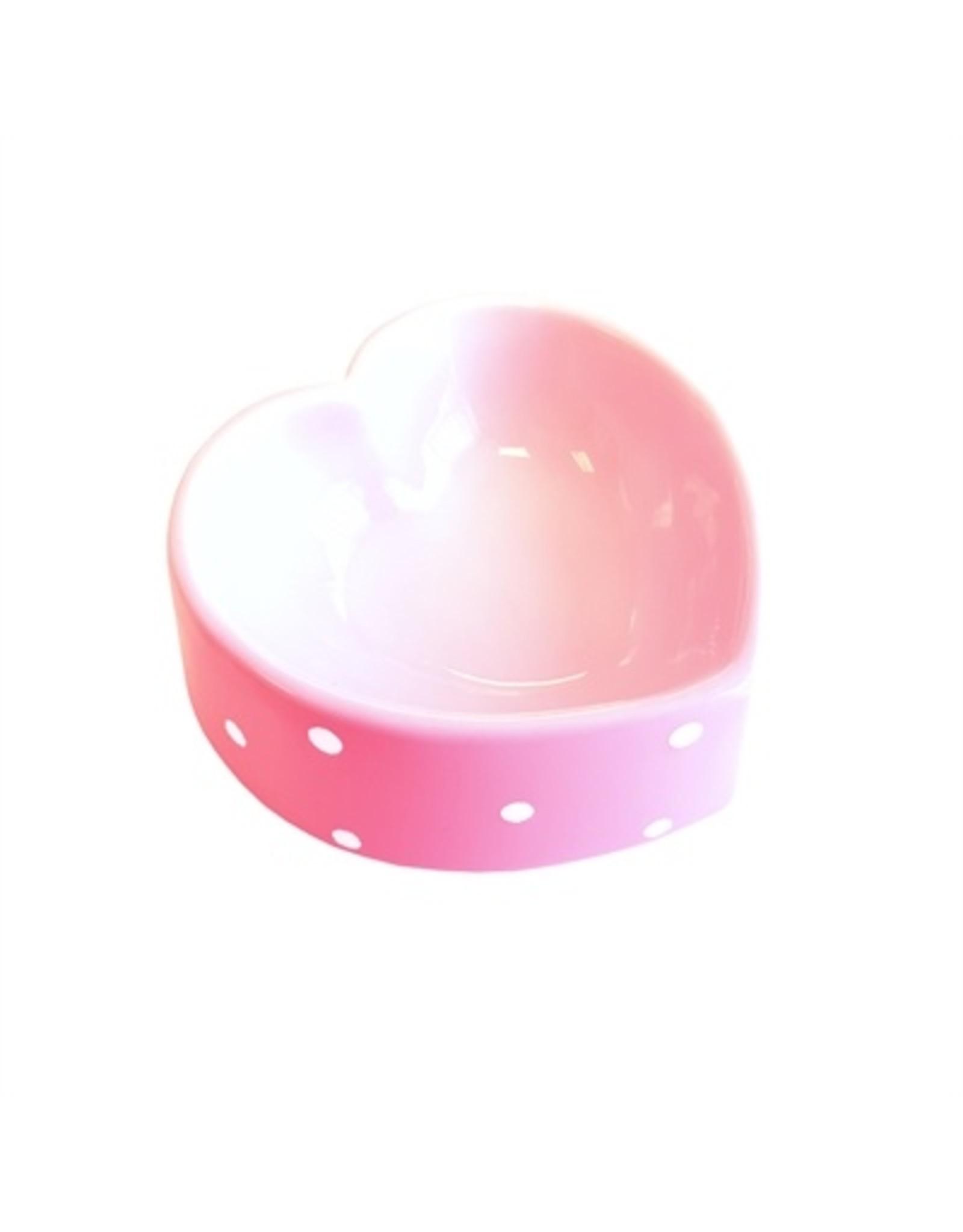 Happy pet Happy pet voerbak polka dot hart roze