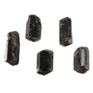 Toermalijn (zwart) kristal doorboorde hanger