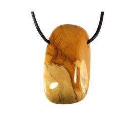 Jaspis (geel) doorboorde hanger