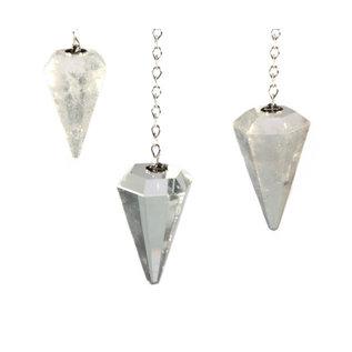 Bergkristal facet pendel