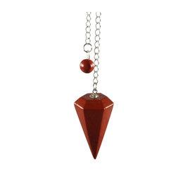 Jaspis (rood) facet pendel