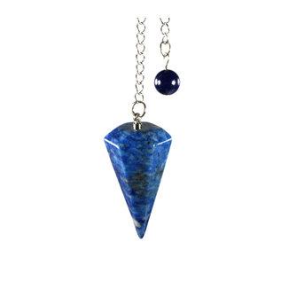 Lapis lazuli facet pendel