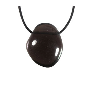 Obsidiaan (apachetranen) doorboorde hanger