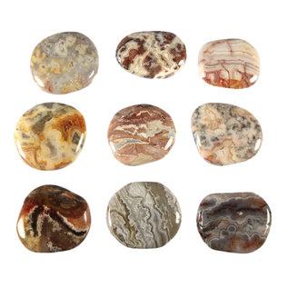 Agaat (kant) platte steen