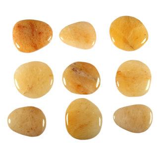 Aventurijn (geel) platte steen