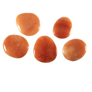 Aventurijn (oranje/rood) platte steen