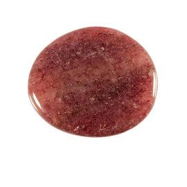 Aventurijn (rood) platte steen
