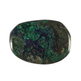 Azuriet-malachiet platte steen