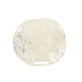 Bergkristal platte steen