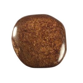 Bronziet platte steen