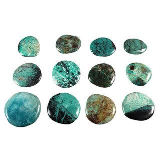 Chrysocolla platte steen