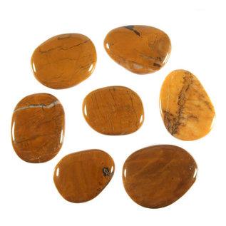Jaspis (geel) platte steen