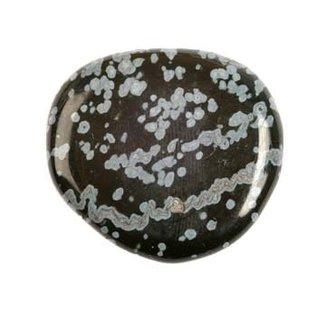 Obsidiaan (sneeuwvlok) platte steen