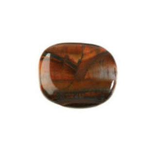 Tijgeroog (rood) platte steen