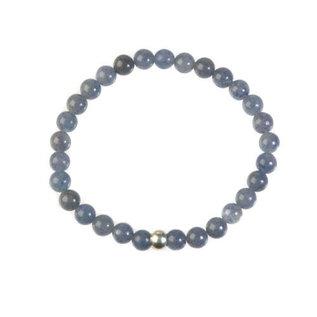 Aventurijn (blauw) armband 18 cm | 6 mm kralen