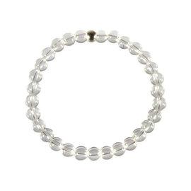 Bergkristal armband 18 cm   6 mm kralen